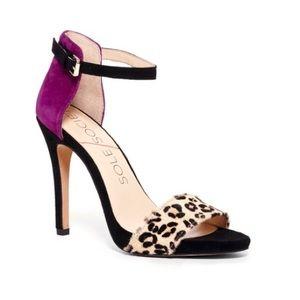 Sole Society Sheila Leopard Purple Heels 7.5B